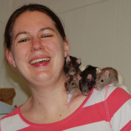 Mary Hunter and her pet rats